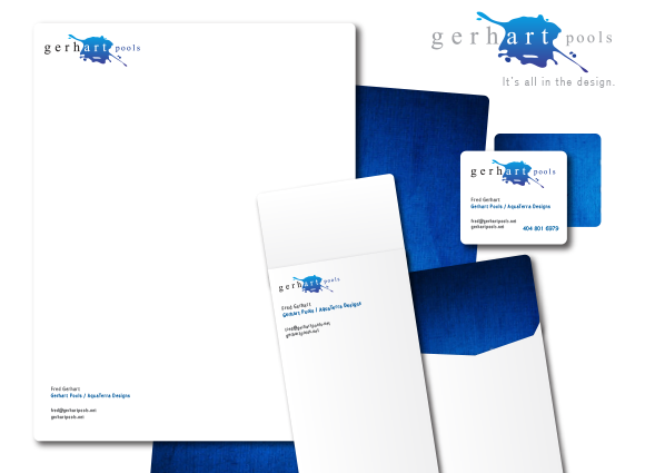 Gerhart Pool Company Letterhead & Custom Business Cards
