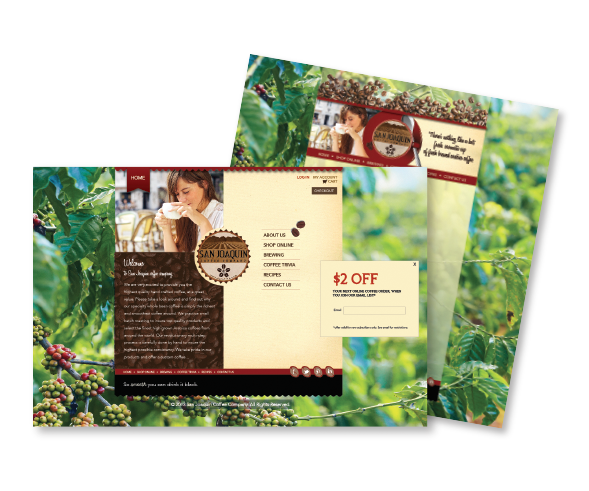 San Joaquin Coffee Company Website Design