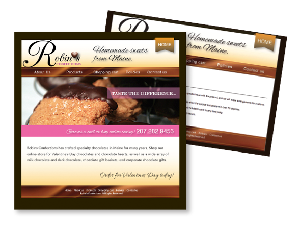 Robin's Confections Website